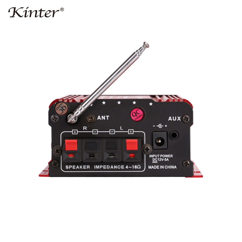 Image 3 - Kinter MA 600 Mini Amplifier Audio with FM Radio 2CH Bluetooth Amplifiers DC12V SD USB Input Play Stereo Sound Super Bass-in Amplifier from Consumer Electronics