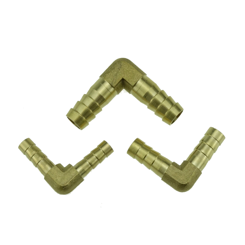 Brass Hose Barb Tail Fitting 90 Degree Elbow  Connector 6 8 10 12 14 16 19mm Hose ID Water Air Fuel Gas