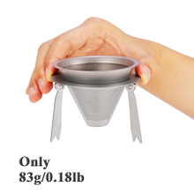Camping Outdoor Titanium Cup Mut Sports Pot Coffee Filter Tableware Detachable Travel