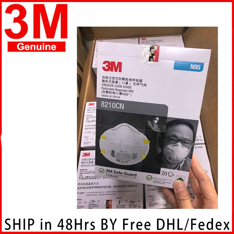 3M 8210 N95 Safety Protective Mask 20PCS/Box Dust Masks Anti-particles Anti-pm2.5 Mask