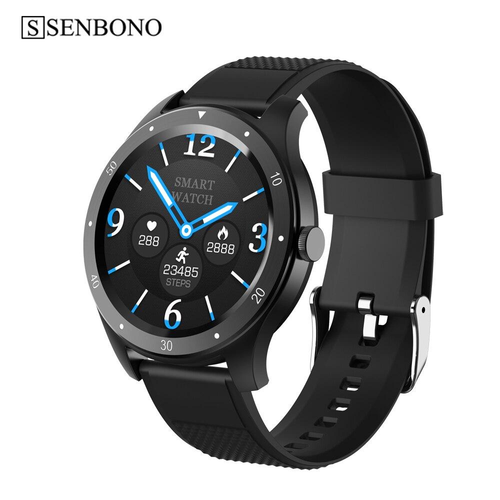SENBONO  Smart Watch Men IP67 Waterproof Bluetooth Call Heart Rate Blood Pressure Monitor women Smartwatch for Android IOS phone|Smart Watches|   - AliExpress