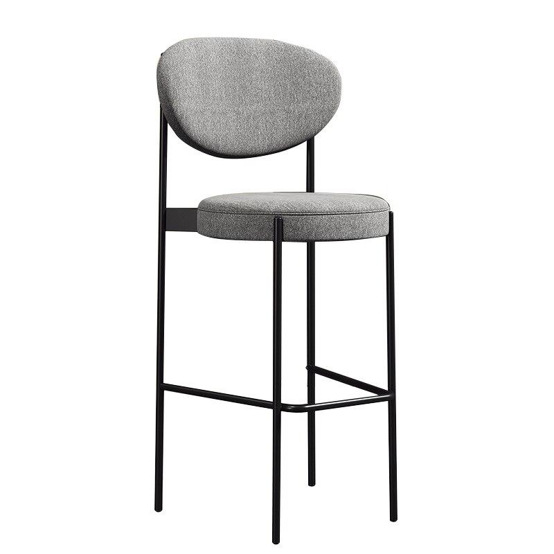 Nordic Iron Bar Chair Household High Chair Fashion Creative Net Red Chair Modern Simple Back Bar Chair