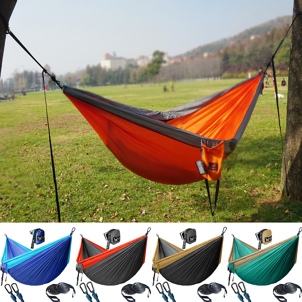 Hiking Hammock Backpacking Parachute Tourist Hanging Travel Outdoor Portable Nylon