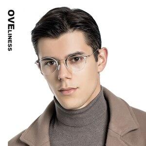 Image 2 - 純チタンレトロラウンドメガネフレーム女性男性 2020 光学コンピュータ眼鏡近視処方透明ガラス眼鏡