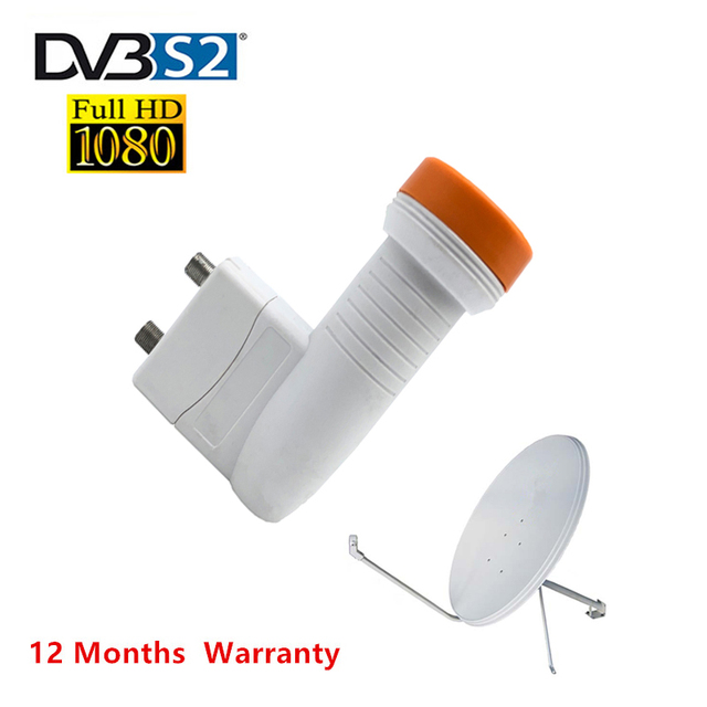 أفضل إشارة سوبر الرقمية HD العالمي كو الفرقة التوأم LNB مقاوم للماء مكاسب عالية 0.1 dB الضوضاء هوائي طبق الأقمار الصناعية لاستقبال التلفزيون