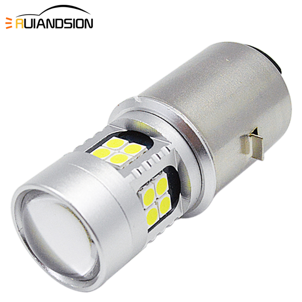 1PCS Motorcycle LED Headlight Bulbs BA20D HIGH/LOW Beam 6000K MOTO 800LM Motorbike Lamps DC 6-24V 3030 22SMD Universal Fog Light
