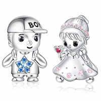 Ice River, Настоящее серебро 925 пробы, Очаровательные бусы для мальчиков и девочек, кукольный кулон для браслетов и ожерелья, сделай сам, модные ю...