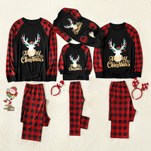 Christmas Family Pajamas Set Cotton New Baby Kid Dad Mom Mat