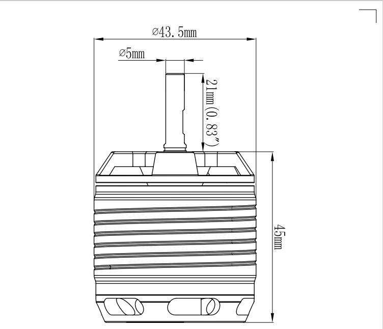 Motor sem escova de gartt hf1600kv 1700