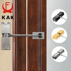 KAK New Stainless Steel Automatic Door Closer Adjustable Speed Door Closing Device 40KG Black Gold Furniture Door Hardware