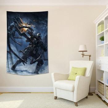Póster personalizado de Crysis, tela colgante, juego circundante, Fondo de tela, arte de pared, tela impermeable, tapiz decorativo de pared