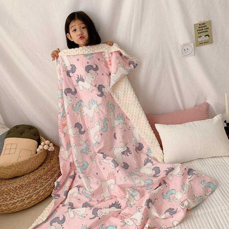 popular dos desenhos animados do bebe agradavel olhando adoravel animal terra cobertor verao aircondition swaddle carrinho