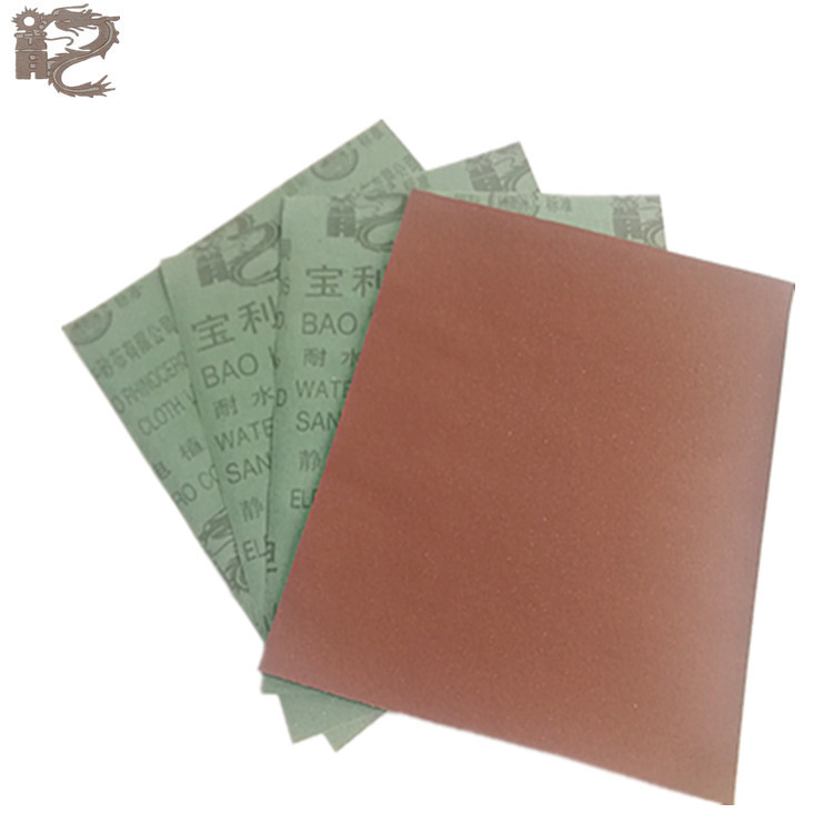 Factory Price Wholesale Polli Waterproof Abrasive Paper 800 #-1500 # Brown Corundum Red Sandpaper Static Electricity Sand-Planti
