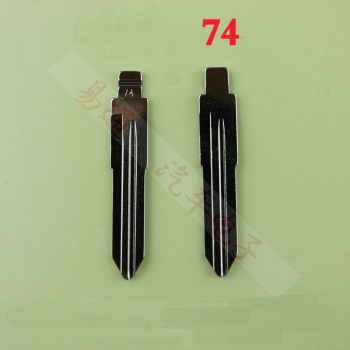 1PC Metal Blank Uncut Flip KD Remote Key Blade Type #74 for Pentium B50 Original NO. 74 Blade image