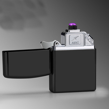 USB Electric Lighter Finger print Touch Fire Electronic Plasma Double Arc Lighter Windproof Metal Ci
