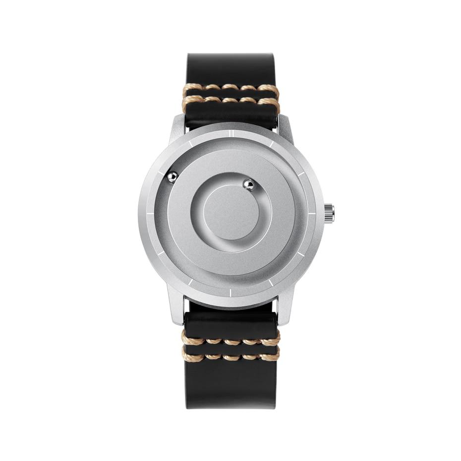 EUTOUR New Innovative Blue Gold Magnetic Metal Multifunctional Watch Men's Fashion Sports Quartz Watch Simple Men's Watch 15