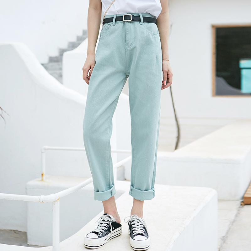 Women Harem Jeans Pants Fashion High Waist Denim Jeans Female Trousers Spring Summer 2020 Streetwear