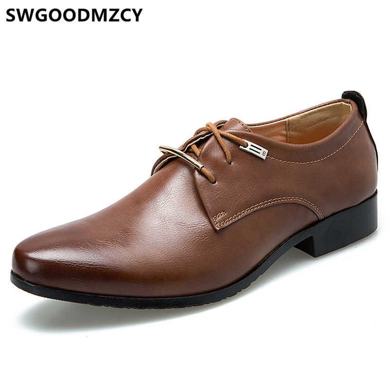 Sapatos homens de negócios do escritório sapatos formal dos homens da marca italiana vestido Coiffeur vestido marrom sapatos oxford para homens de casamento de luxo designer vestido 2019 zapatos de hombre de vestir sap