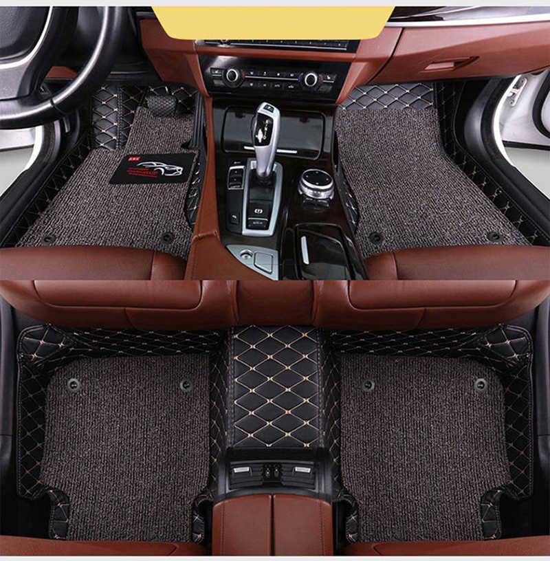 مخصص سيارة الحصير 2 طبقة دواسات قدم ل BMW جميع نموذج X3 X1 X4 X5 X6 Z4 525 520 f30 f10 e46 e90 e60 e39 e84 e83 سيارة التصميم