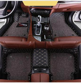 Custom car floor mats 2 layer foot mats for BMW all model X3 X1 X4 X5 X6 Z4 525 520 f30 f10 e46 e90 e60 e39 e84 e83 car styling