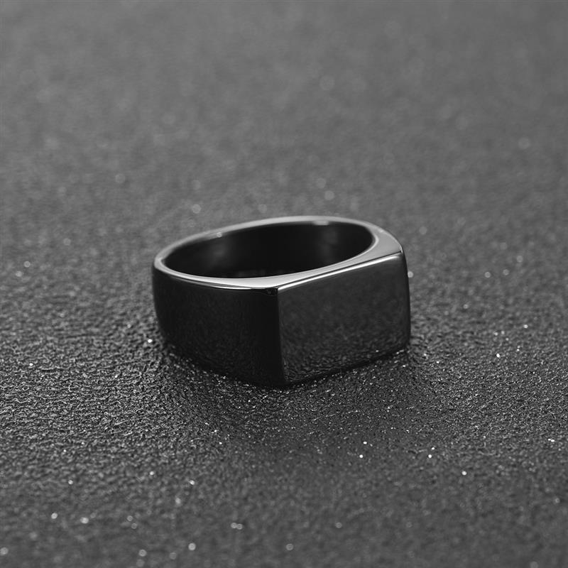Jiayiqi Men Ring Male Jewelry Hiphop Stainless-Steel Silver-Color Black Golden Charm
