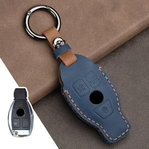 Image 5 - Leder Auto Schlüssel Fall Abdeckung für Mercedes Benz CLA180 CLS350 GLB GLA GLE GLC GLK GLS ML250 R320 S400 E Klasse C260L E260