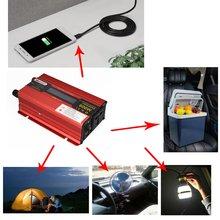 600 автомобильный инвертор dc 12v/24v к ac 110v/220v преобразователь