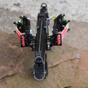 Wolf King Powerful Slingshot Rifle Metal Hunting Catapult Continuous Shooting 40-rounds Ammo and Arrow for Hunting and Shooting 5
