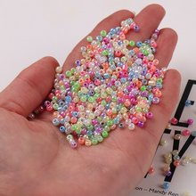360 шт 3 мм Разноцветные кремовые стеклянные чешские бусинки