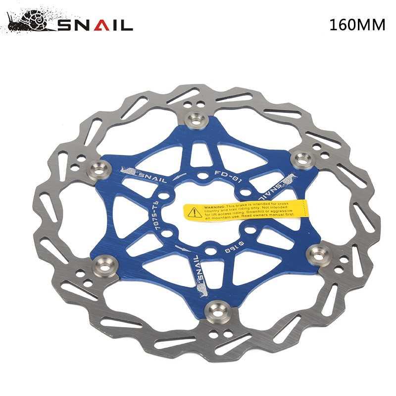 MTB Bicycle Hydraulic Disc Brake 160//180//203mm Floating Disc Brake 6 Bolts Rotor