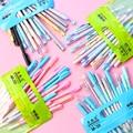 20 шт./компл. со стирающимися чернилами гелевые ручки  кавайные канцелярские принадлежности в Корейском стиле ручка 0 5 мм черные  голубые чер...