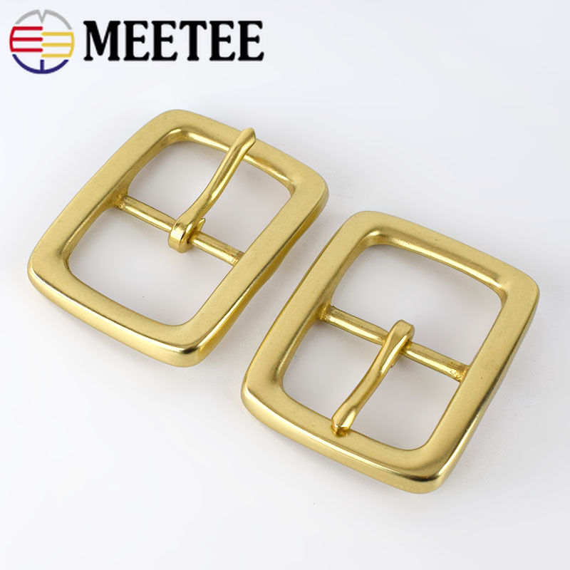 Deepeel 1pcs 40mm Men Belt Buckle Pure Copper Buckles Brass DIY Business Casual Belt Buckles Handmade Carfts Accessories F1-39