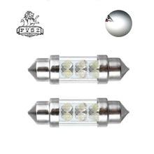 2Pcs Cars Interior Light bulb Festoon 39mm Led C5W C10W LED 6 SMD Light emitting diode white light Doom Lamp Reading Light 12V