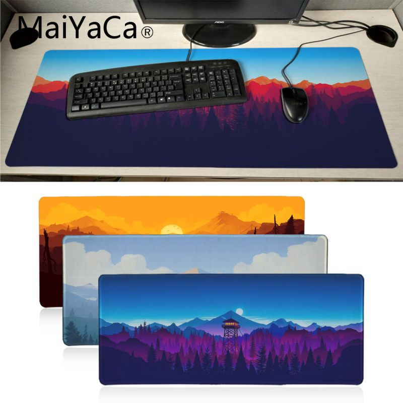 MaiYaCa Deep Forest Firewatch Durable Rubber Mouse Mat Pad Big Russia Gaming Mouse Pad Xl Keyboard Laptop PC Notebook Desk Pad