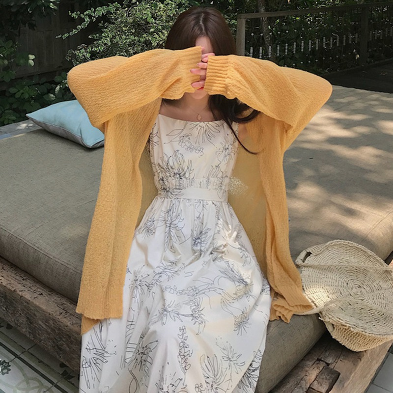 Summer 2020 Thin Coat Sunscreen Clothing Long Sleeve Knitted Blouse Kimono Cardigan Wholesale