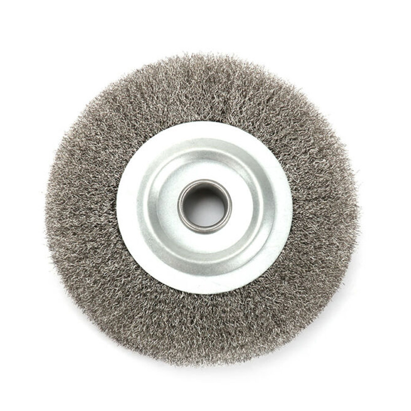 125mm Stainless Steel Crimping Wheel Brush Grinder Rust Wire Bench Removal Tool For Home 125mm Crimping Wheel Brush Tools Parts