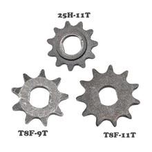 Цепи TDPRO для карманных велосипедов 25H/T8F 9T/11T, цепи передней звездочки для скутера, мини-питбайка, квадроцикла, 43cc, 47cc, 49cc, 2 такта