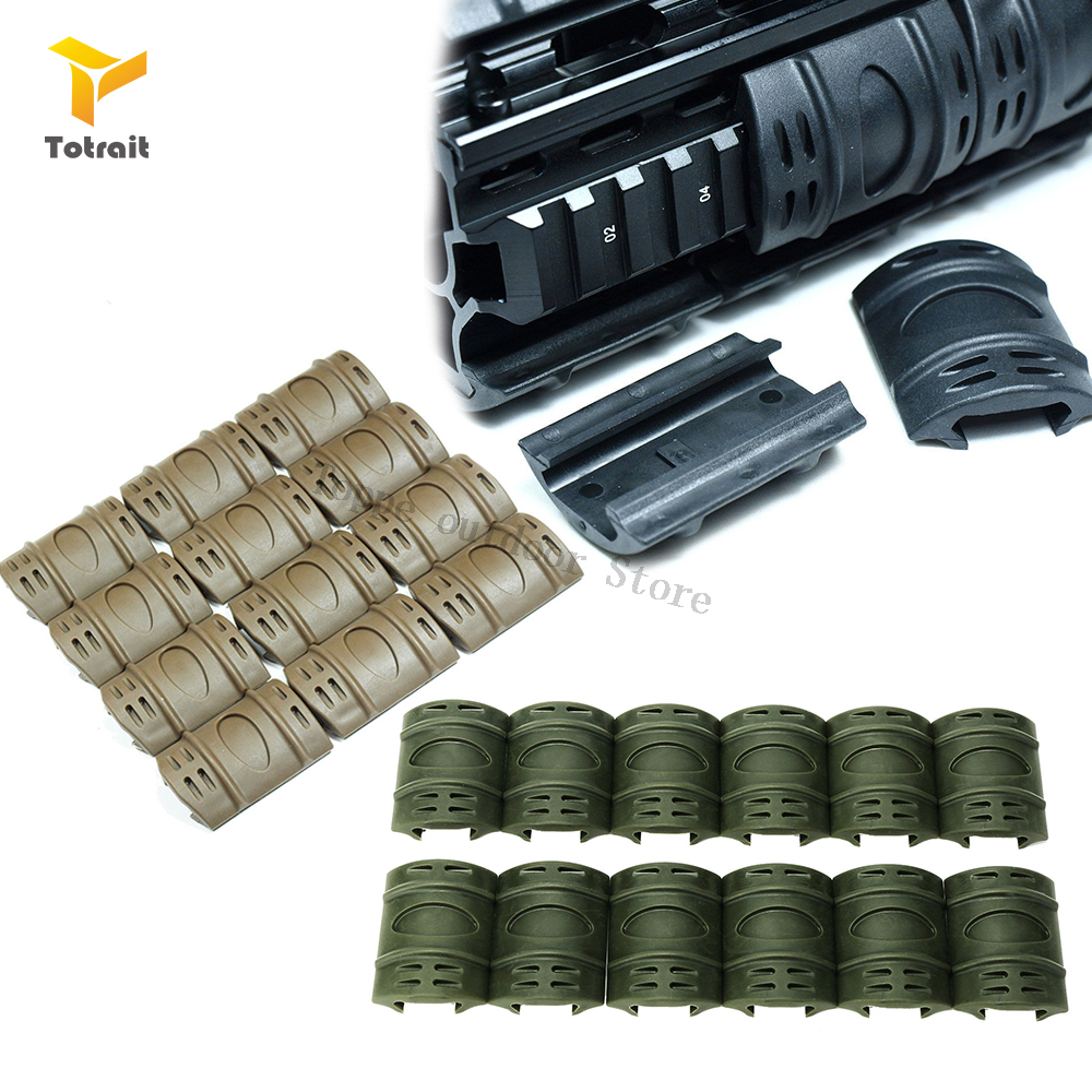 12//24PCS Hunting Picatinny//Weaver Rubber Rail Cover Protector Black//Sand Mounts