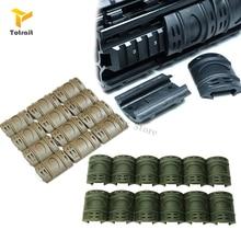 цена на TOtrait 12pcs Rifle Weaver Picatinny Handguard Quad Rail Covers Rubber Rifle Paintball Protector Covers Tactical P31