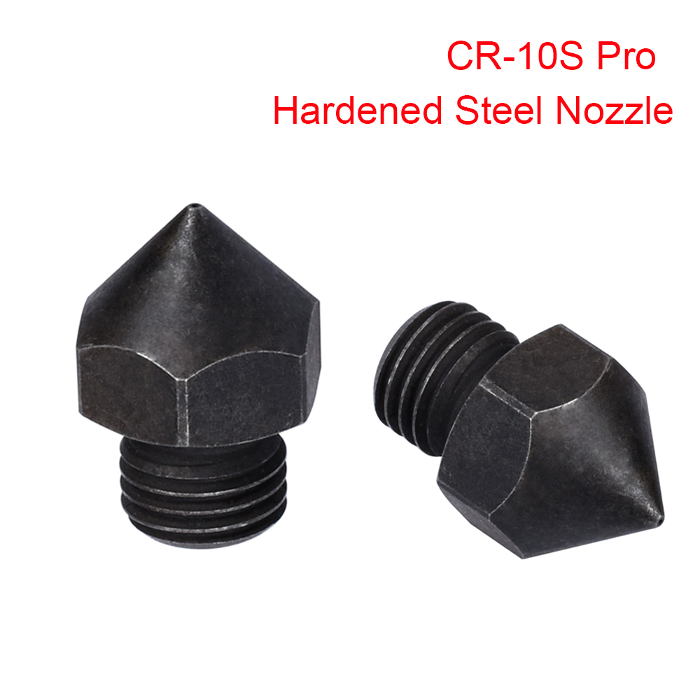 3D Printer Parts CR-10S Pro Hardened Steel Nozzle To 3D Printer Hotend Extruder 1.75MM Filament For CR10/CR10S Heat Block Ender3