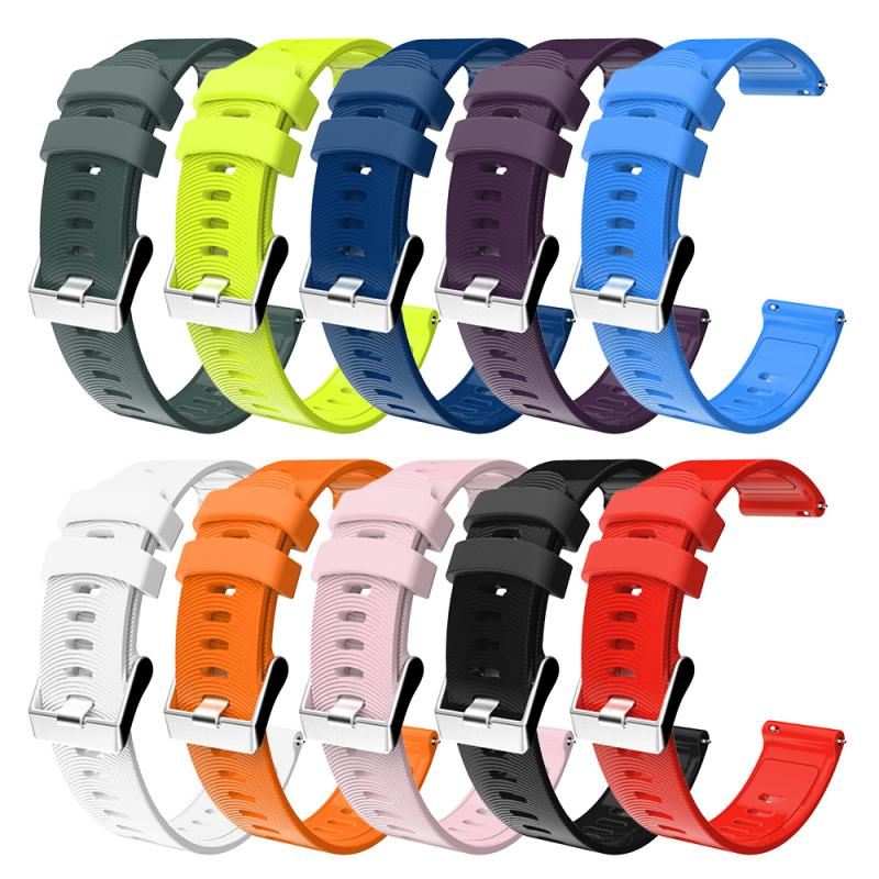 For <font><b>Garmin</b></font> Forerunner 245 245M 645 <font><b>20mm</b></font> Sports Silicone Watch Strap Vibractive 3 Watch <font><b>Band</b></font> Colorful Bracelet image