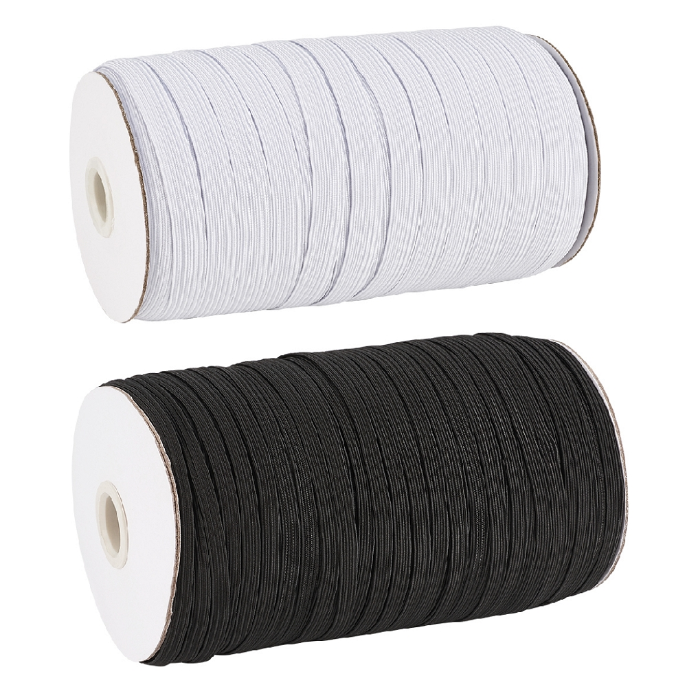 1Roll 4 <font><b>5</b></font> 6 8 <font><b>10</b></font> 12 14mm Flat Elastic Cord Mask Ear Tie Rope for DIY Mask Knitted Band Stretch Rope Jewelry Clothing Accessories image