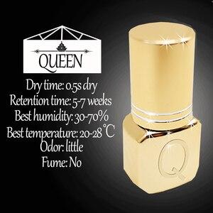 Image 2 - Glesum Gold Bottles Strong 0.5s, extensión de pestañas negras de secado rápido, pegamento Queen sin látex, adhesivo de baja irritación