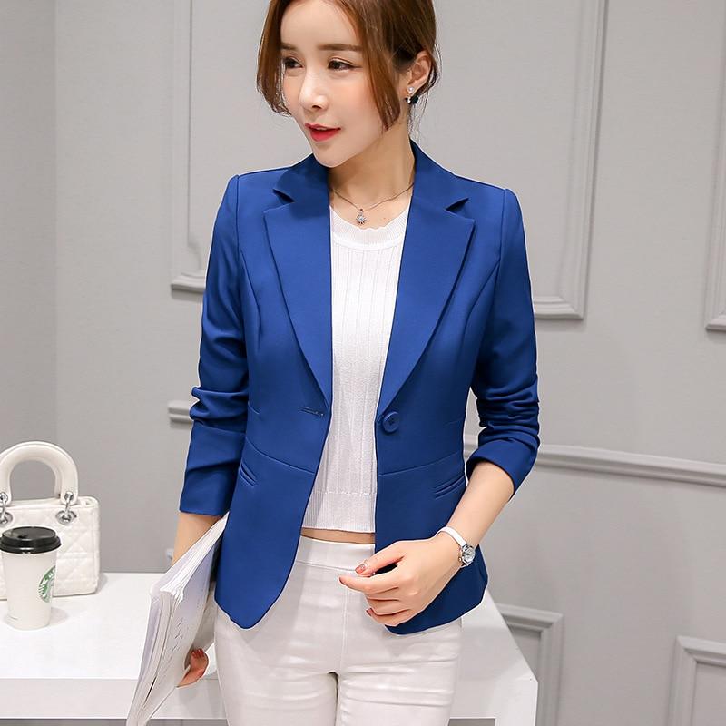 Black Women Blazer Formal Blazers Lady Office Work Suit Pockets Jackets Coat Slim Black Women Blazer Femme Jackets 11