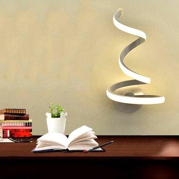 LED Wall Lamp Bedroom Bedside Creative Simple Modern Lamp Art Wall Lamp Acrylic Corridor Staircase Lights