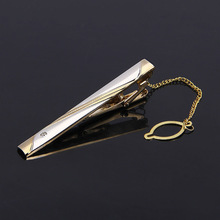 Men's Suit Tie Clip Metal Sandblasting Silver Gold Korean-style Simple Stickpin Fittings Hot Selling