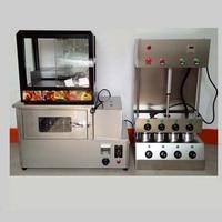 2020 Commercial 4 pcs kono pizza cone making machine electric italy cone pizza maker for sale