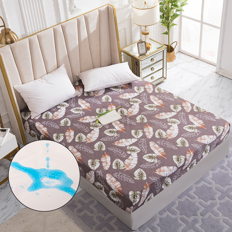 Dreamworld Waterproof Bed Mattress Cover Watertight Mattress Protector Pad Fitted Sheet Separated Water Bed Linens with Elastic