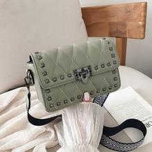 Bags for Women 2019 High Quality Chain Crossbody Bag Female Rivet Small Messenger Bag Brand Vintage Ladies Leather Shoulder Bag недорого