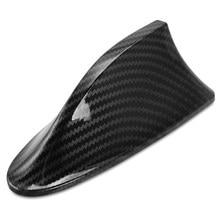 Antena de barbatana de tubarão do carro fibra carbono antenas sinal para bmw e46 e60 e39 f20 f21 f30 f31 f10